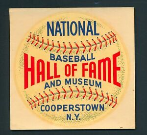 1960s Baseball Hall of Fame Couperstown, NY Decal *4310