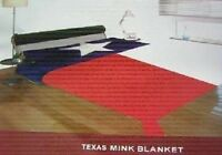 "Texas Lonestar State Flag Full/Queen Mink Throw Blanket (78"" x 94"")"