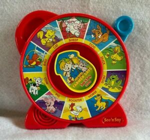 Vintage Fisher Price See' n Say The Farmer Says Animal Sounds Red
