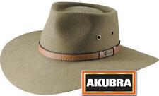 Akubra Territory Wide Brim Felt Hat - Santone Fawn 61cm