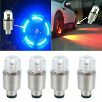 4Pcs/Set Tire Air Valve Stem Cap Lamp LED Motorcycle Car Wheel Light Decor Bulb