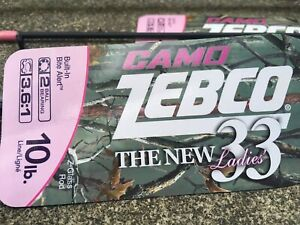 Zebco 33 Lady Camo Pink Rod and Reel Combo Limited Edition 6' Medium Action