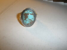Fashion Women's Silver Plated Turquoise Moonstone Ring Jewelry Sz 9