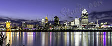 Cincinnati Skyline HDR photo on canvas from artist art image  poster