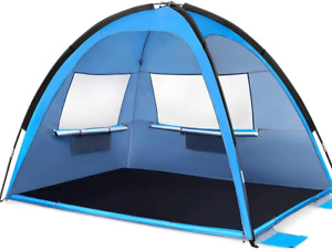 MOVTOTOP Beach Tent Sun Shade Shelter, 3-4 Person Large SunShade Canopy UPF 50 S