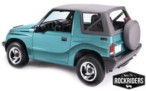King 4WD Replacement Soft Top Tracker 1986-1994 Suzuki Sidekick Black Diamond
