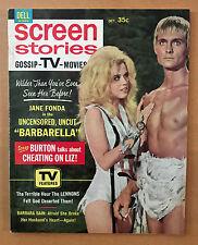 DELL SCREEN STORIES  OCT 1968  BARBARELLA COVER  JANE FONDA  BARBARA BAIN