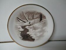 Very Old Christmas Store Giveaway Plate from Thos Filbert of Pa - WINTER