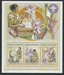 Central Africa   2002   Sc # 1447a-c   Orchids   Sheet of 3   MNH   (55750)