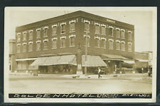 NE O'neill RPPC 1910's GOLDEN HOTEL Street ONEILL NEWS & CIGAR STORE by Graves