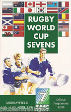 RUGBY UNION WORLD CUP SEVENS (Murrayfield, 16-18.4.1993) Tournament Programme