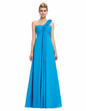 One Shoulder chiffon Flower Bridesmaid Dress Formal Evening Party Ball Gown Prom