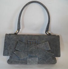 LOVELY BAGATT Navy Blue e Grigio italian leather bag handbag 5bfc9c2b9ec