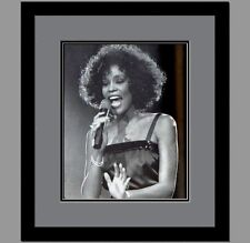 Whitney Houston Custom Framed & Double Matted Photo LIPF