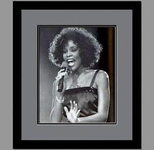 Whitney Houston Custom Framed & Double Matted Photo Lipf