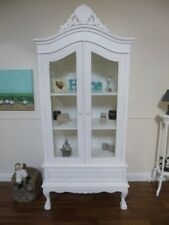 Shabby Chic Display Cabinet - French Two Door Glass Display Cabinet