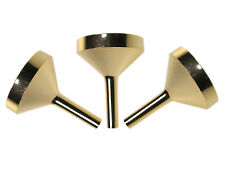 3 x Small Gold Metal Filling Funnel for Small Bottles, Diameter 2.4cm (LS)