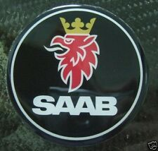 "3d 2,5"" Saab BLACK Hood badge emblem decal 9-3 9-5 95"