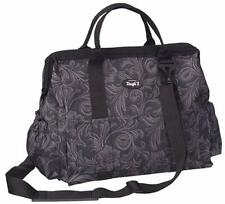 Tough-1 Show Case Groom Bag - BLACK TOOLED LEATHER - New!!
