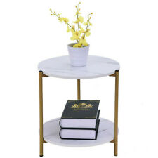 2 Tier Small Sofa End Table Coffee Table Bedside Desk Wood Table Furniture