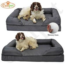 Memory Foam Dog Bed Deluxe Waterproof Soft Pet Sofa Cushion Chair Luxury Easipet