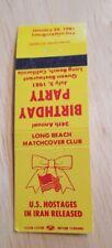 Matchbook Queen Restaurant Long Beach Hostages Iran California Matchcover club