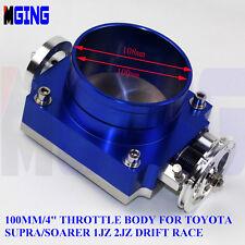 "4"" 100mm Throttle Body High Flow For Toyota Supra Soarer 1JZ 2JZ Drift race BL"