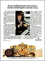1983 Rolex Oyster Chronometer watch Franco Zeffirelli retro photo print ad ads73