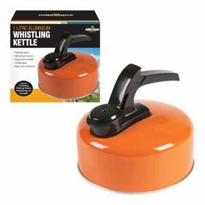 1L Aluminium Whistling Kettle Hob Camping Fishing Coffee Tea Pot