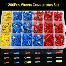 New Listing1200x Assorted Crimp Spade Terminal Insulated Electrical Wire Connector Kit Set