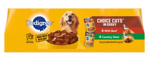 12 Packs CHOICE CUTS in Gravy With Beef and Stew Adult Canned Wet Dog Food