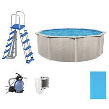 "Phoenix 15' x 52"" Frame Above Ground Outdoor Swimming Pool w/ Pump & Ladder Kit"