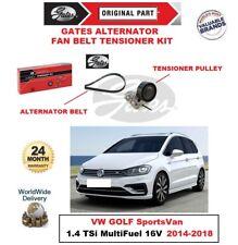 Gates Lüfter Riemenspanner Set für VW Golf Sportsvan 1.4 TSI Multifuel 16v