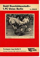 DDR-Liga 80/81 1. FC Union Berlin - BSG Stahl Eisenhüttenstadt  07.12.1980