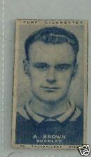 #28 A Brown Burnley - Football soccer card