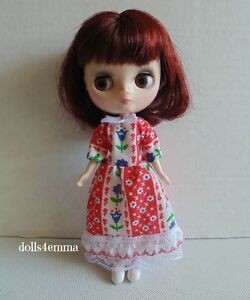 MIDDIE BLYTHE Custom Doll Clothes HANDMADE Baby-Doll DRESS Fashion NO DOLL