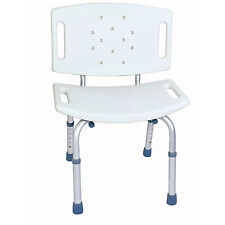 CA350 CareMax Aluminium Adjustable Bath Shower Seat Chair with Back Rest