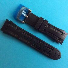 Festina Uhrband Ersatzband F16382 und F16526 Kautschuk/Carbon schwarz