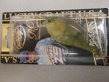 Lucky Craft Rick Clunn RC 3.5 RT Rattle Ghost Chartreuse Perch fishing lure RARE