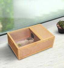 37?L Wood Tortoise House Turtle Habitat Indoor Tortoises Enclosure Small