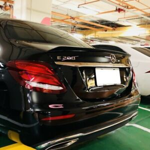 Stock 63 Look ABS Trunk Spoiler Wing For 17~20 Mercedes Benz E-Class W213 Sedan