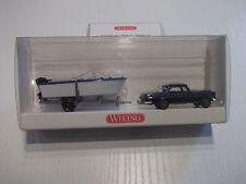 Wiking 8943930 Mercedes Benz 280 SE  Blau  mit Trailer + Boot  mit OVP 1:87 HO