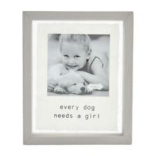"""Mud Pie Home """"Every Dog Needs a Girl"""" Wood Pet 4"""" Square Photo Frame"""