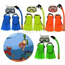 Junior Snorkel Mask & Fin Scuba Swimming Diving Snorkelling Holiday Kids Set
