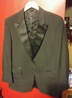 000 Vintage Mens Lord West Raleighs  Black Tux Suit Jacket Single Button