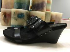 Alfani Black Wedge Slide Sandals NWOB (U.S. Size 6 M)