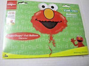 "Sesame Street Foil Balloon Elmo By Anagram, 20"" x 18"", Brand New"