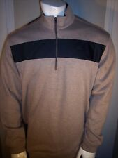 Nike Tiger Woods Collection Large Black on Brown Sweater NY Mets Subtle Logos