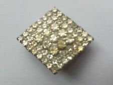 """Faceted Stoned 1"""" (2.5cm) Brooch Quality Deco 1930s Paste Multi"""