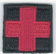 "1"" Red Black Medic Red Cross Paramedic VELCRO® BRAND Hook Fastener Compatible"